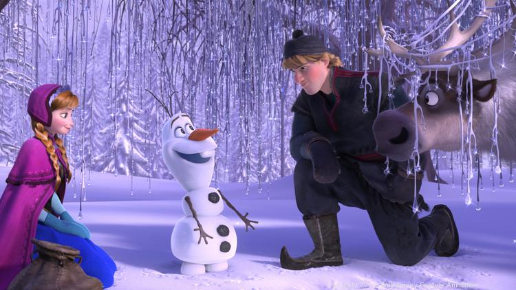 """""""Frozen"""" was back atop the home-video charts in its fifth week of release in both overall and Blu-ray sales."""