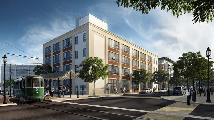 An artist's rendering of the redeveloped center at 110 Canal St. in Lowell