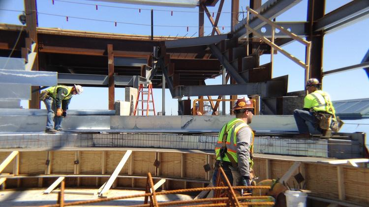 The $172.2 million HarborCenter is rising fast in downtown Buffalo.