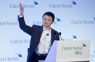 Jack Ma, chairman of Alibaba Group Holding Ltd., gestures as he speaks during the Credit Suisse Asian Investment Conference in Hong Kong in March 2013.