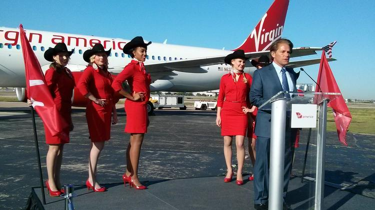 Virgin America CEO David Cush announcing new routes from Dallas' Love Field, which will key a major expansion for the airline.