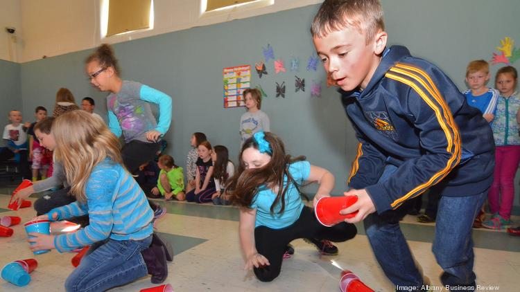 Third grader Aiden Fedorowicz takes part in a SmartKidsNY program at Miller Hill-Sand Lake Elementary School in Averill Park.