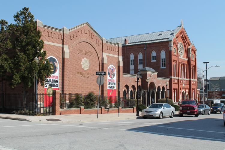 The Jewish Museum of Maryland along East Lombard Street.