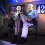 Bob Uecker gets a statue in the last row of Miller Park