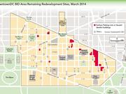 By March, most of the surface parking lots in the DowntownDC BID area had been filled in with new development.