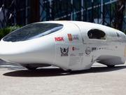 A student team from Canada's Universite Laval won first place in the Prototype gasoline category at the Shell Eco-marathon Americas 2014 in downtown Houston.