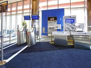 A new automated boarding gate in United's Terminal B at Logan International Airport in Boston.