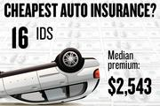 No. 16. IDS, with a median premium in the four-county region of $2,543 for a married couple with no accidents buying standard auto coverage, according to 2013 survey data by the state Department of Insurance.