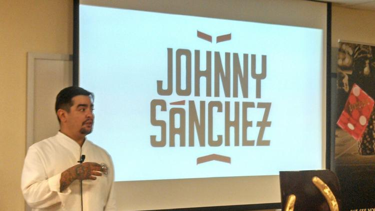 Aaron Sanchez prepares tacos and tostadas at a press event announcing Johnny Sanchez, the Mexican restaurant he will open with John Besh in the Horseshoe Baltimore casino.