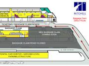 The baggage claim roadway, normally used by drivers picking up arriving passengers, will be closed starting Tuesday, and traffic will be diverted to the ticketing/check-in road.