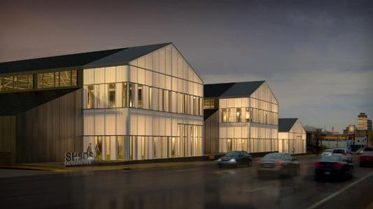 A rendering of the new The Sheds on Charlotte development.
