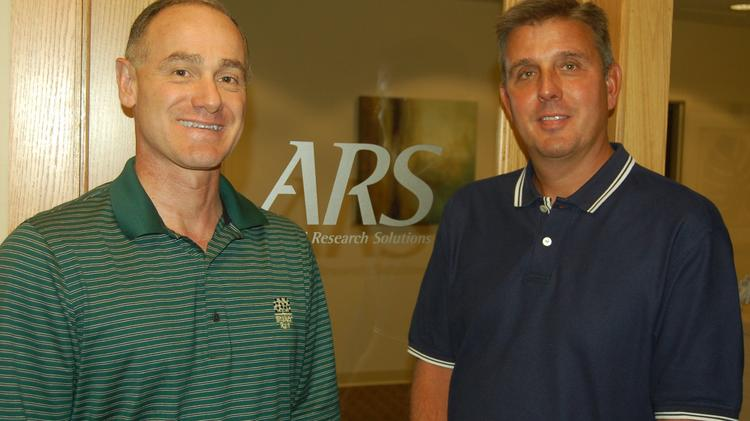 Kevin Sullivan (left) and Gary Wittlinger (right), managing partners with Beavercreek-based Applied Research Solutions.