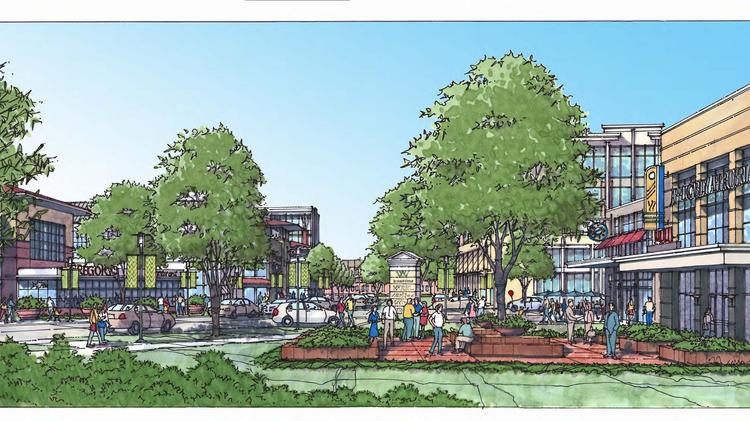 The rezoning will allow Childress Klein and Crosland Southeast to develop 560,000 square feet of commercial space, a 150-room hotel and up to 561 apartments, single-family homes and townhomes at Waverly.