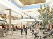 An interior rendering of the Springfield Town Center, which is expected to open in mid-October after a two-plus year renovation.