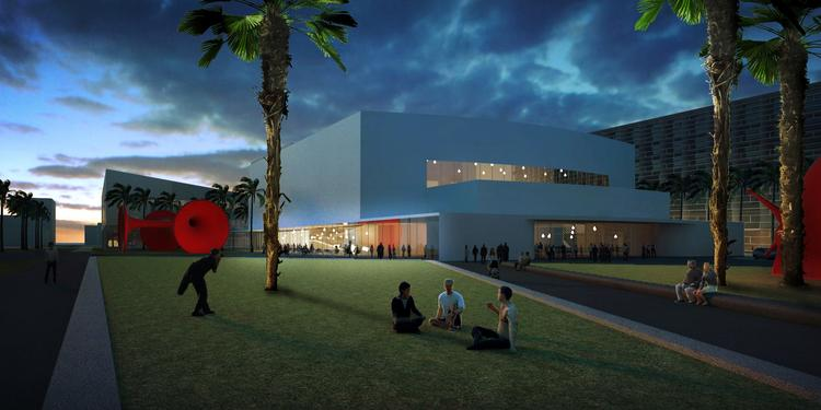 A rendering of the Fillmore Miami Beach at the Jackie Gleason Theater from Portman CMC's Miami Beach Convention Center renovation proposal.