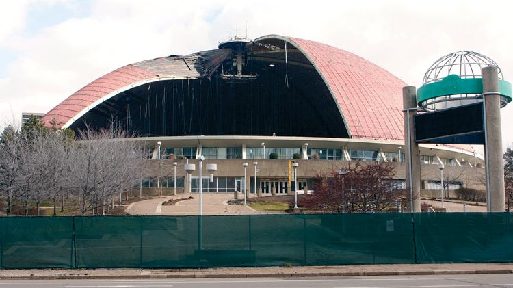 The National Trust for Historic Preservation said the demolition of the Civic Arena, above in 2011, violated rules.