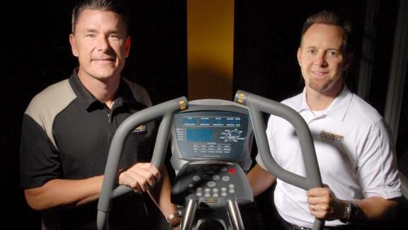 Octane Fitness founders Dennis Lee, left, and Tim Porth in 2007.