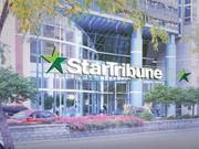 A rendering of what the front of the Park Building, soon to be renamed for the Star Tribune, may look like.