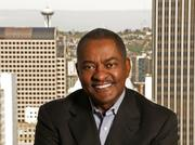 Washington State University President Elson S. Floyd in the WSU Downtown Seattle offices.