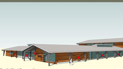 Rendering of the proposed $11.5 million Chatham County Agriculture and Conference Center.