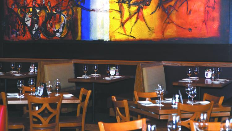 Carmel Cafe offers casual dining in a colorful setting.