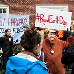 Harvard protesters air righteous message outside the wrong offices