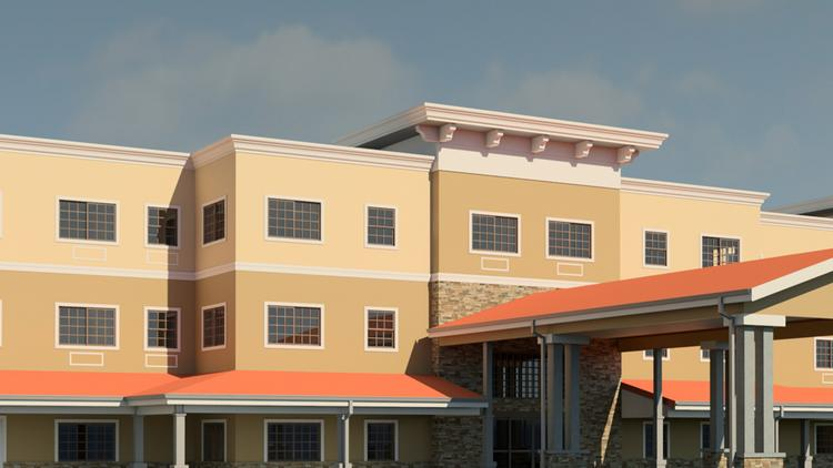 A rendering of InspiredLiving, a combined assisted living and memory care residential community, that Validus Senior Living will be building at Lakewood Ranch.