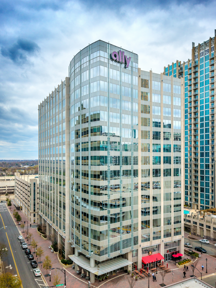 The owners of the Ally Center have listed the 15-story office building for sale.