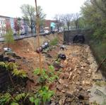 Massive street collapse sweeps away cars, covers CSX tracks in North Baltimore (Video)