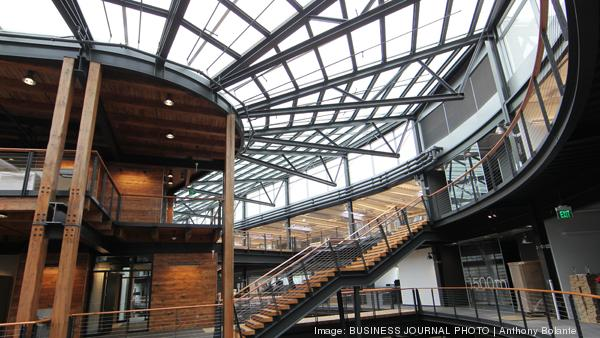 The Federal Center South building in South Seattle has won one of 20 national design awards. The interior of the building is airy and made largely of reclaimed materials.