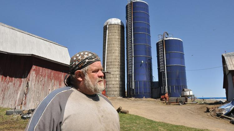 Terry Waters on his Steuben County farm in New York's Southern Tier. Waters' land sits on top of the Marcellus Shale and would be a good candidate for natural gas exploration if New York decides to permit fracking.