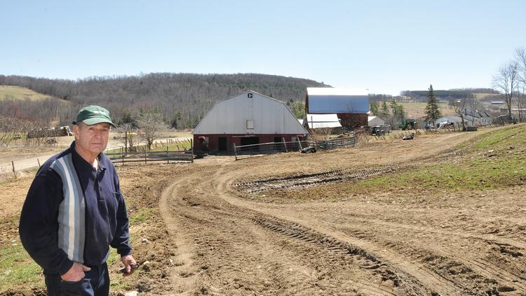 Dairy farmer Neil Vitale at his 700-acre farm in Woodhull in Steuben County, New York.