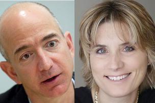 Jeff Bezos, Amazon CEO, Daphne Carmeli, Deliv CEO.