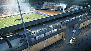 Rendering of the planned premium-seating section at UB Stadium.