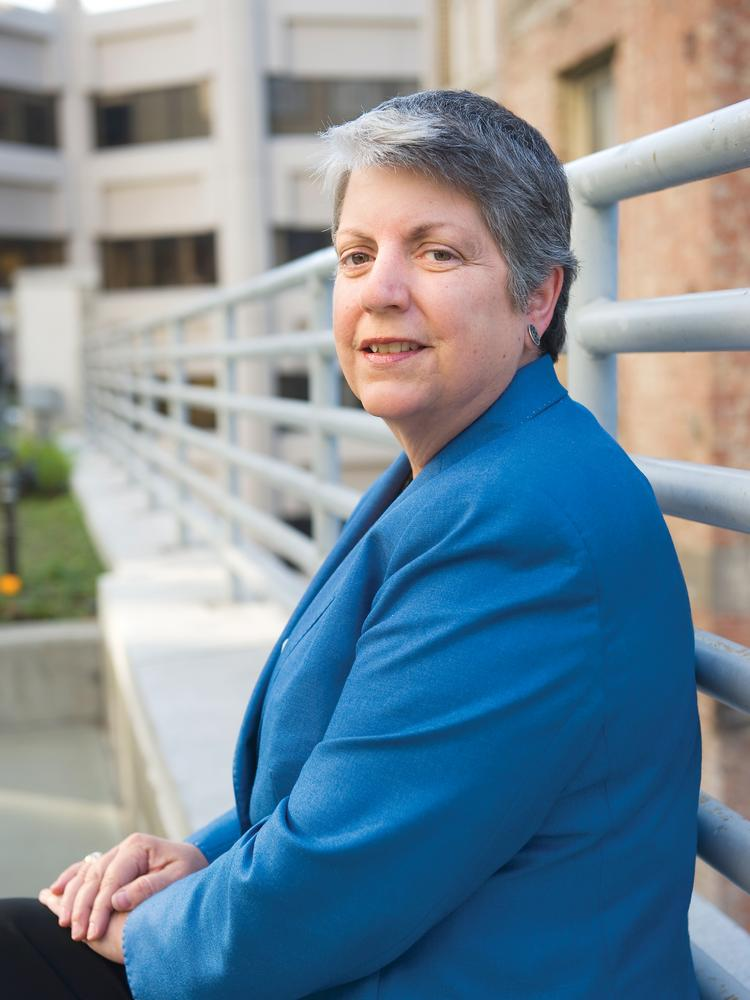 University of California President Janet Napolitano has formed an advisory group to help the UC system cut pollution.