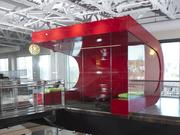 The newly renovated office for Raleigh communications firm Capstrat was the winner of Triangle CREW's 2014 Champion Award for best interiors project.