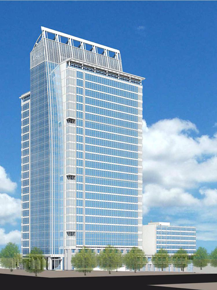 The Charlotte Business Journal obtained this December rendering of the 300 South Tryon project.