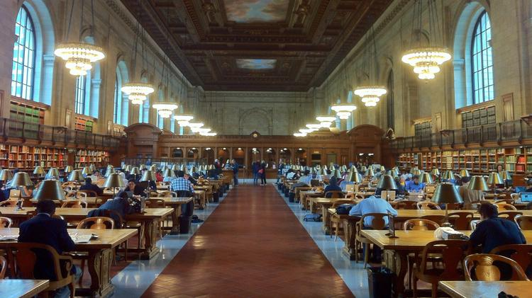 While it's extremely unlikely the NYPL would hold classes in the Rose Reading Room, the library will provide space for Coursera classes to meet and discuss their work.