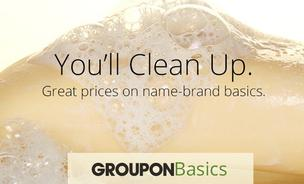 Amazon has added Groupon Basics to its e-commerce lineup, which will deliver household goods such as soap in bulk as a warehouse club might sell.