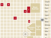 Market Square Tower (No. 4) will be within the block bounded by Preston, Louisiana, Milam and Congress. Here are the 10 residential projects planned for downtown as of April:  1. 500 Crawford;  2. Block 52;  3. Block 334 Residences;  4. Market Square Tower;  5. 800 Crawford;  6. Skyhouse Houston;  7. 1111 Rusk;  8. Hines Market Square;  9. Untitled (1811 San Jacinto);  10. Untitled (Pease and La Branch)