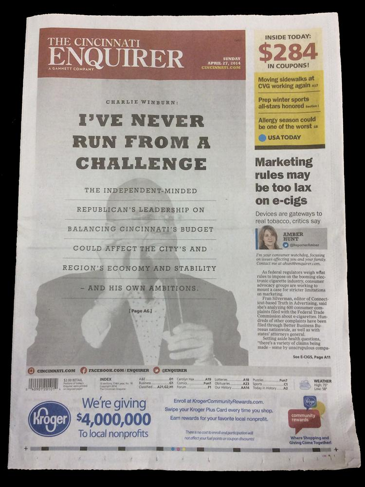 The Cincinnati Enquirer announced another round of layoffs today.