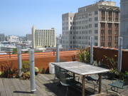 The Wakefield building also features terraces with views of Oakland.