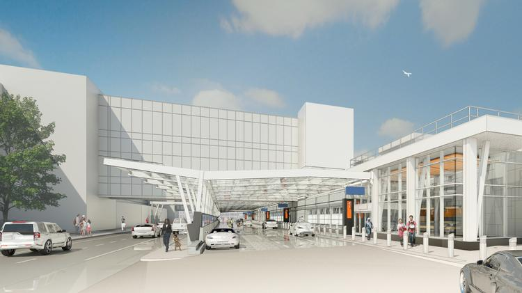 Rendering of the renovated pick-up area