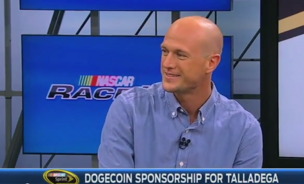 Josh Wise, driver behind Nascar's car number 98 is now sponsored by the encrypted currency, Dogecoin.