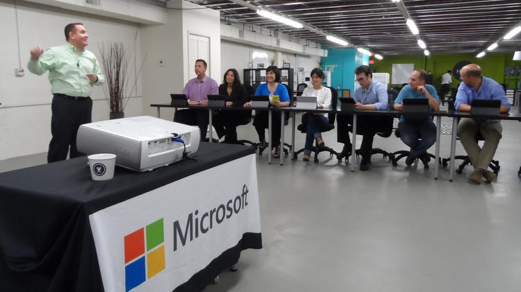 The beginnings of the Microsoft Innovation Center at Venture Hive in downtown Miami.