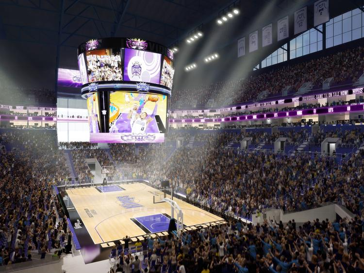 Turner Construction has been selected as the main construction company for the downtown Sacramento sports and entertainment center, seen visualized in a rendering.