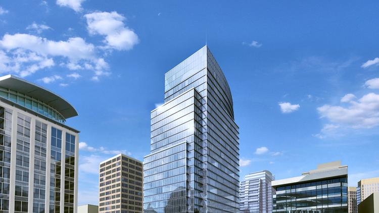 Arlington County officials are weighing a change to the county's sign regulations that would allow The JBG Cos. to offer naming rights to prospective tenants at its planned Central Place office tower.