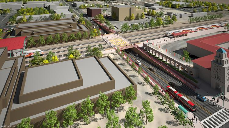 The city of Albuquerque is seeking a $15 million grant in conjunction with the Mid Region Council of Governments to transform the Central Avenue railroad underpass and bring it above ground.