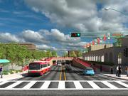 """""""We worked with MRCOG and the Department of Transportation on how to remove the physical and psychological barrier between East Downtown and Downtown, to bring it above ground, lift the sidewalks up, and tie it into the Alvarado Transportation Center and other Downtown destinations,"""" said Michael J. Riordan, director, Department of Municipal Development."""