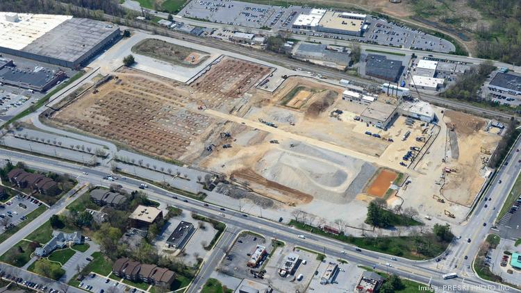 The former Solo Cup. Co. plant in Owings Mills has been demolished to make way for a Wegmans-anchored shopping center called Foundry Row.